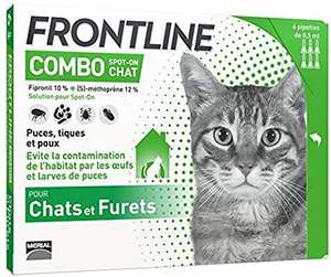Anti-puces et anti-tiques pour chat Frontline combo Chat - 6 pipettes
