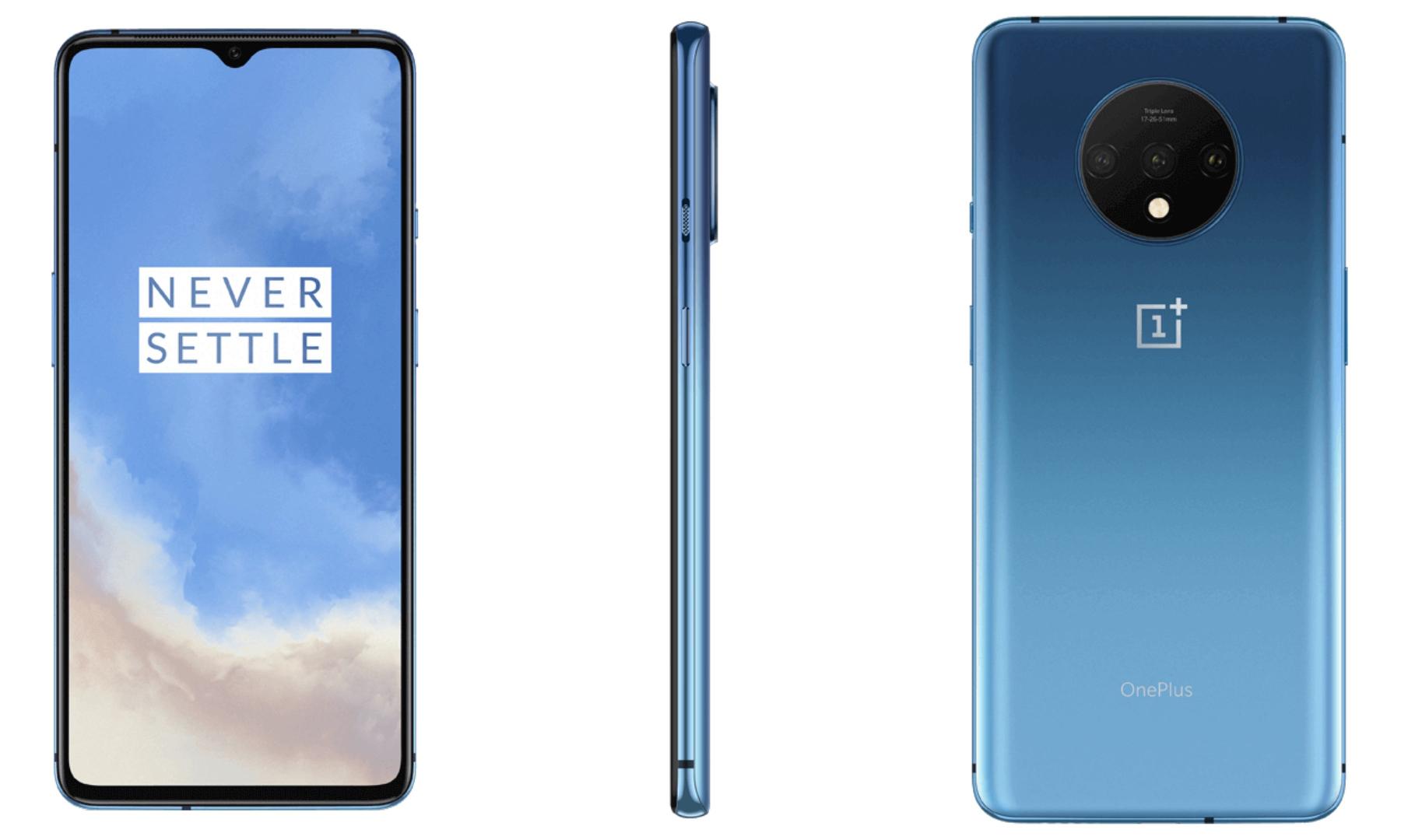 "Smartphone 6.55"" OnePlus 7T - Snapdragon 855 Plus, RAM 8 Go, ROM 256 Go, Bleu Glacier (+ 21.90€ en SuperPoints)"
