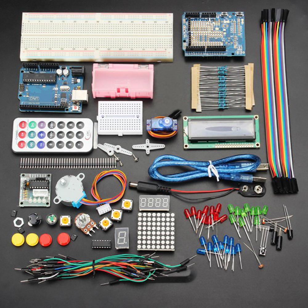 Kit de Démarrage Geekcreit Arduino Uno R3 (Sans Batterie)
