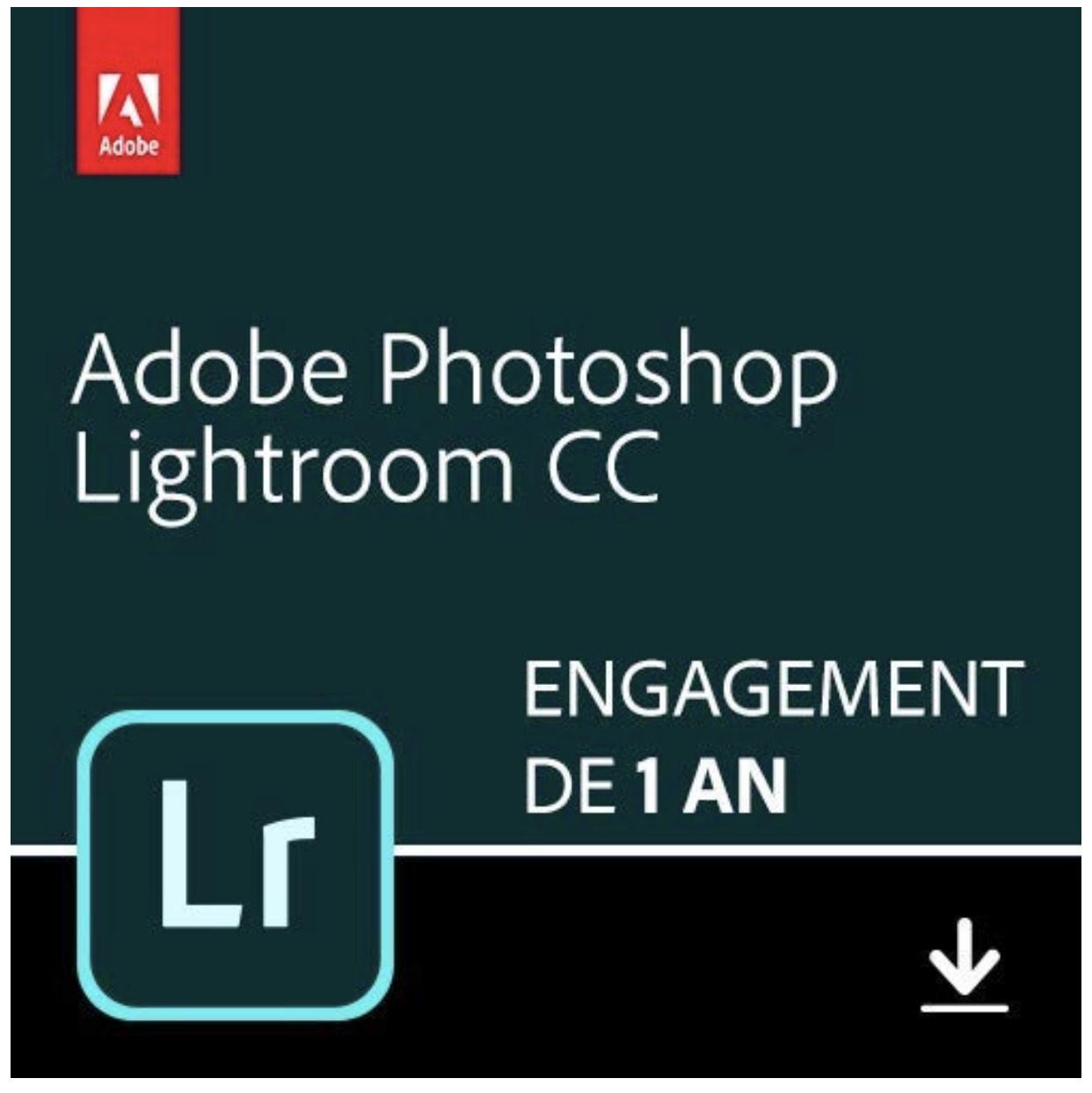 Abonnement d'un an à Adobe Photoshop Lightroom 1TB