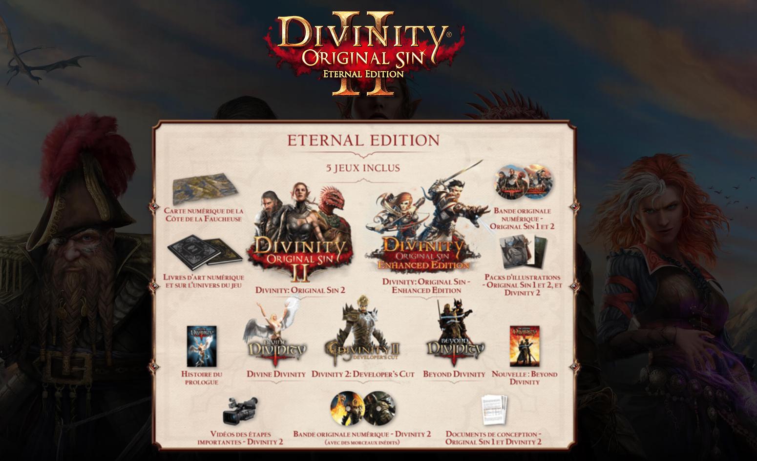 Divinity Original Sin 2 - Eternal Edition sur PC (Dématérialisé)