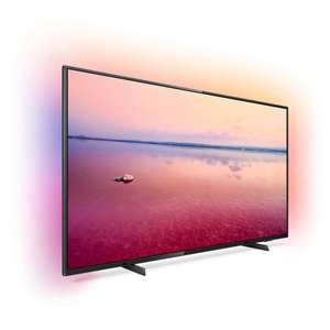 """TV 70"""" Philips 70PUS6704 - LED, 4K UHD, HDR 10+, Dolby Vision & Atmos, Ambilight 3 côtés, Smart TV"""