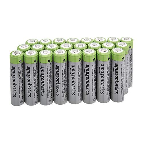 Lot de 24 piles rechargeables AA AmazonBasics - 2400 mAh