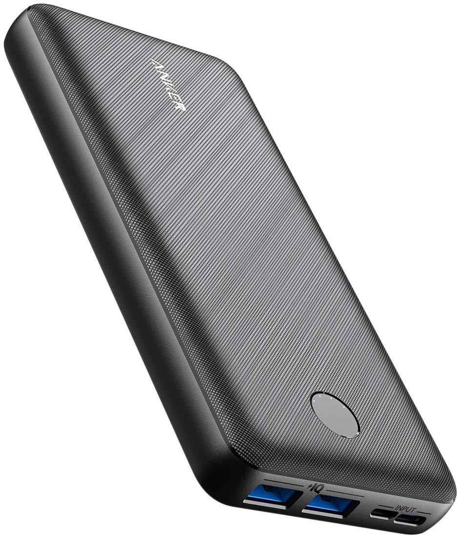 Batterie externe Anker PowerCore Essential (20000 mAh) - 2 sorties USB-A PowerIQ (15W) + 2 entrées USB-C & microUSB (Vendeur tiers)