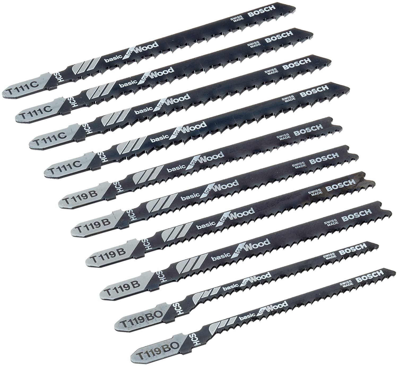 Coffret de lames pour scie sauteuse Bosch X-Pro Line STS / 2607010629 - 10 pièces bois
