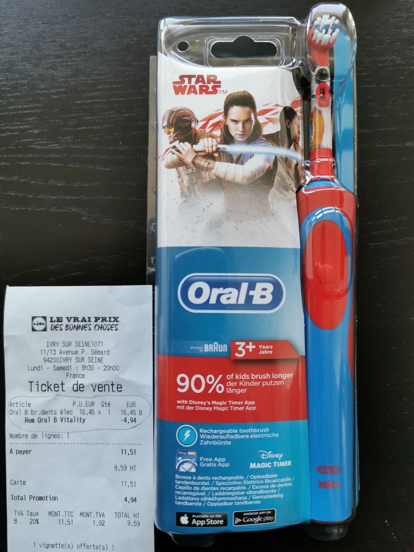 Brosse à Dents Electrique Oral B Star Wars