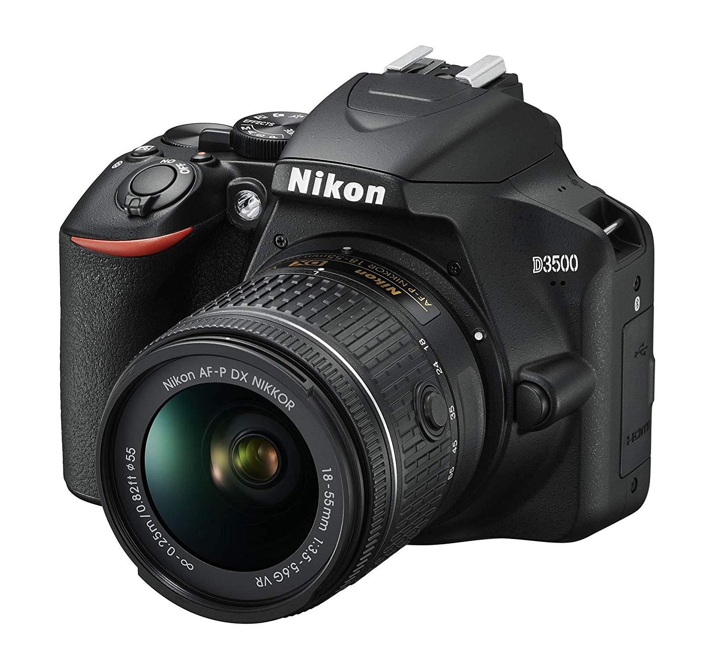 Appareil photo numérique Reflex Nikon D3500 + Objectif AF-P DX 18-55 f/3.5-5.G VR