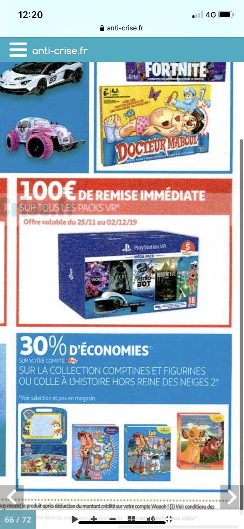 100€ de réduction immédiate sur tous les packs Sony PlayStation VR
