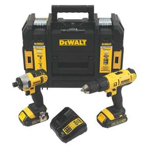 Coffret perceuse à percussion + visseuse à choc Dewalt DCZ298S2T-GB - 18V 1,5Ah