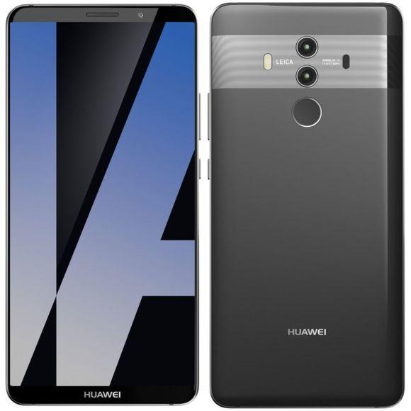 """Smartphone 5.9"""" Huawei Mate 10 Pro - QHD, Kirin 970, 6 Go de RAM, 128 Go, noir - (Reconditionné Premium) - Garantie 1 an"""