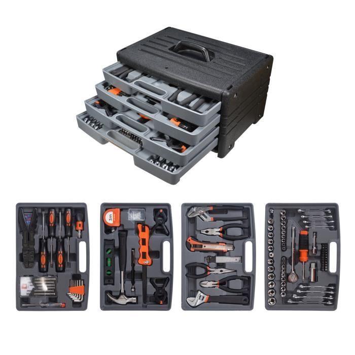 Mallette à outils Manupro - 199 accessoires