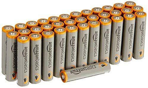 Lot de 36 piles alcalines AmazonBasics Type AAA 1,5 V 1340 mAh