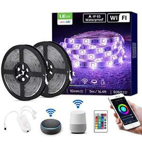Ruban LED Connecté Lighting Ever - Compatible Alexa et Google Home, IP65