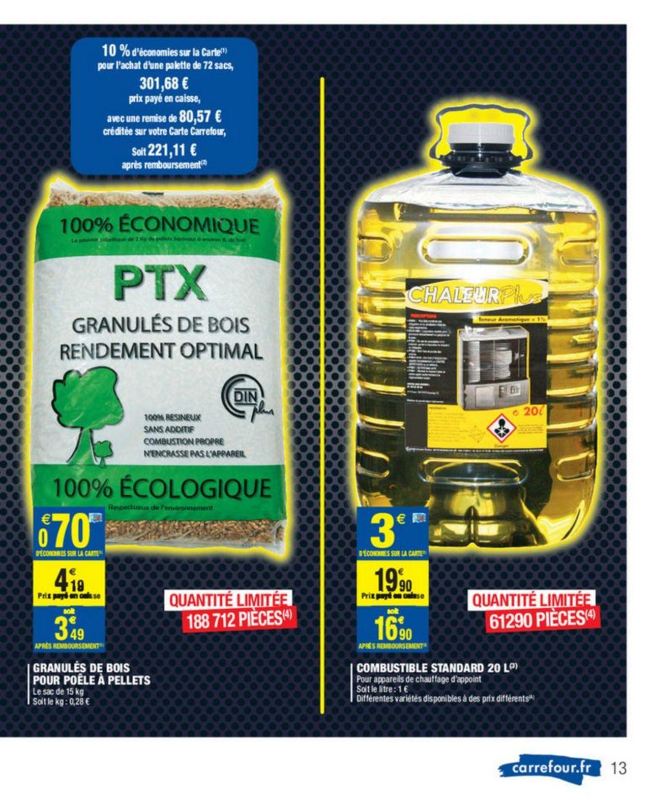 Palette de Granulés de bois pour Poêle Pellets PTX DIN - 72 Sacs (Via 80.57€ sur la Carte Fidélité)