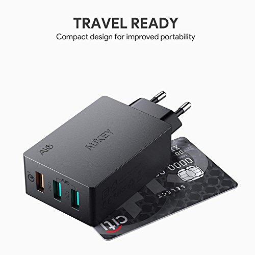 Chargeur Secteur USB Aukey Quick Charge 3.0 - 43,5W, 3 Ports (Vendeur tiers)