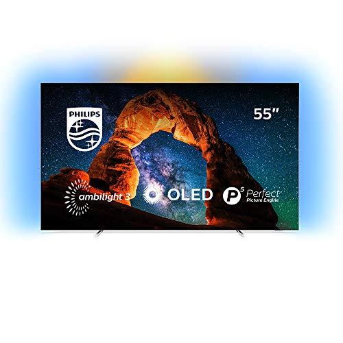 """TV OLED 55"""" Philips 55OLED803 - UHD 4K, HDR, Smart TV, Ambilight 3 côtés"""