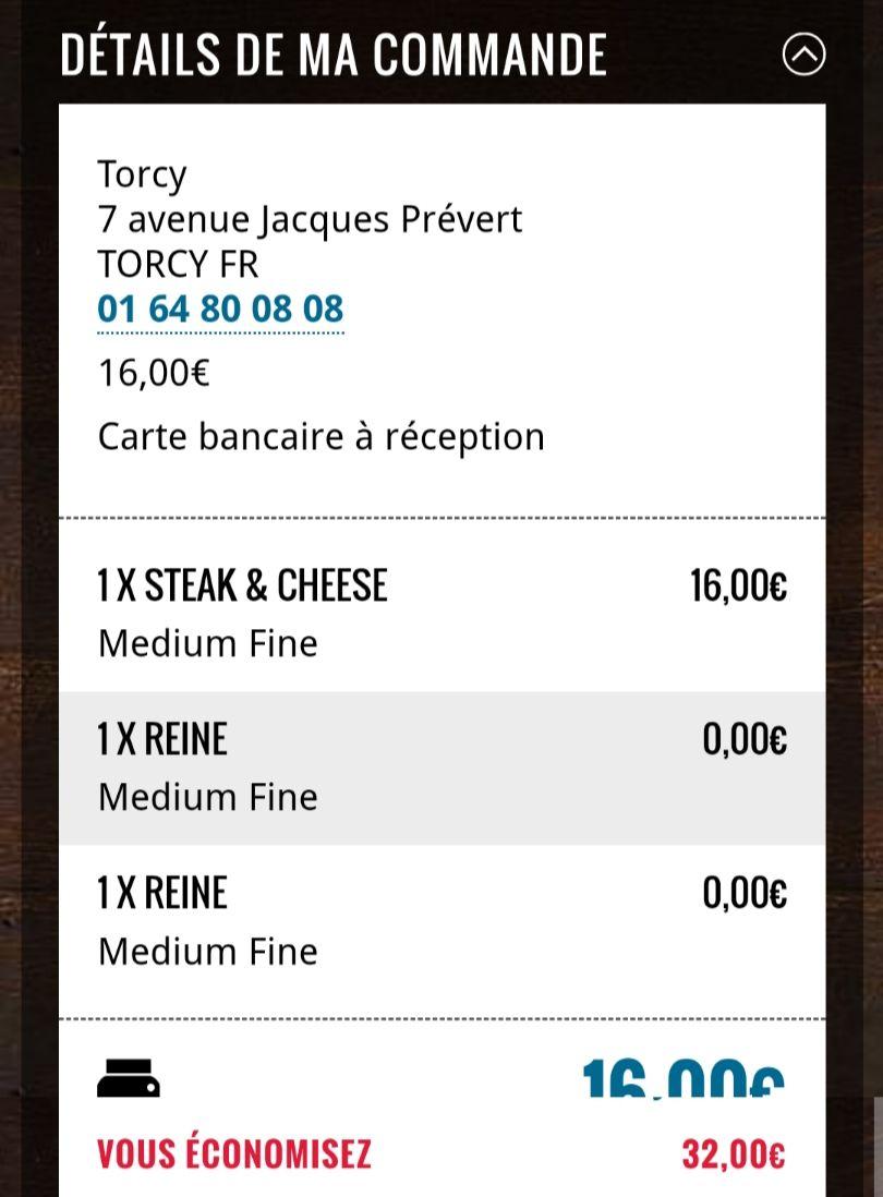 3 pizzas pour le prix d'1 à emporter - Domino's Pizza Torcy (77)