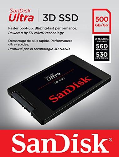 """SSD Interne 2,5"""" Sandisk Ultra 3D - 500 Go"""