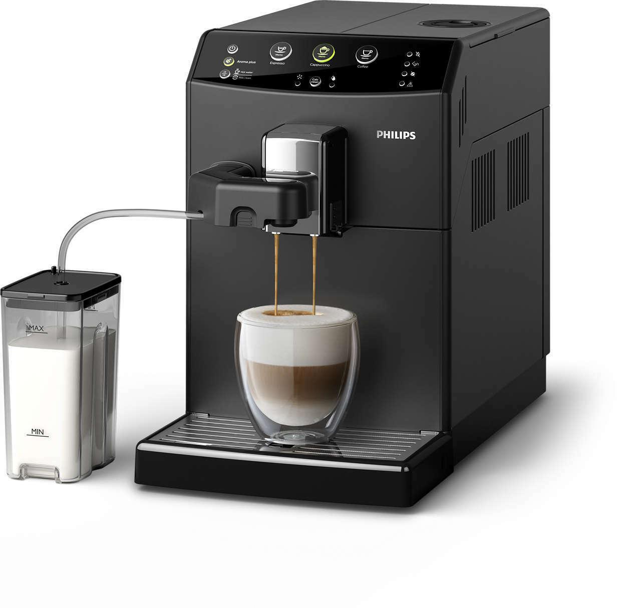 Machine Expresso Automatique Philips HD8829/01 - 15 bars, 1850W, Carafe à lait intégrée, broyeur céramique