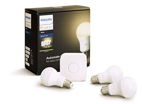 Kit de démarrage Philips Hue White 3 Ampoules White E27 + Pont de Connexion