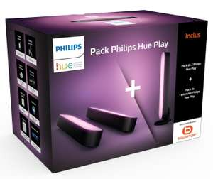 Pack 2 Philips Hue Play Noir + 1 Hue hilips Hue Play Noir (119.99€ avec le WELCOME19 )