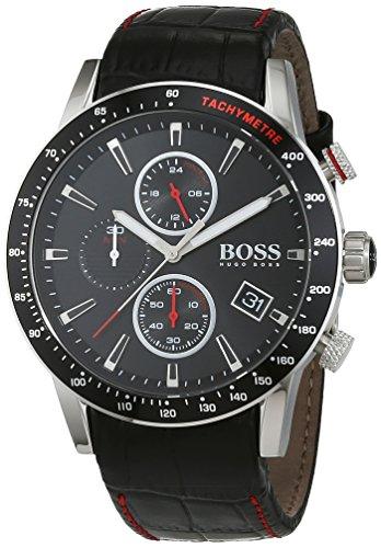 Sélection de montres en promotion - Ex : Homme Chronographe Quartz Hugo BOSS 1513390 - bracelet avec bracelet en Cuir