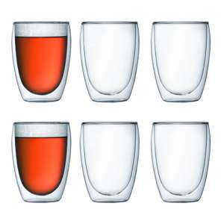 Coffret de 6 verres à double paroi Bodum Pavina - 35 cl