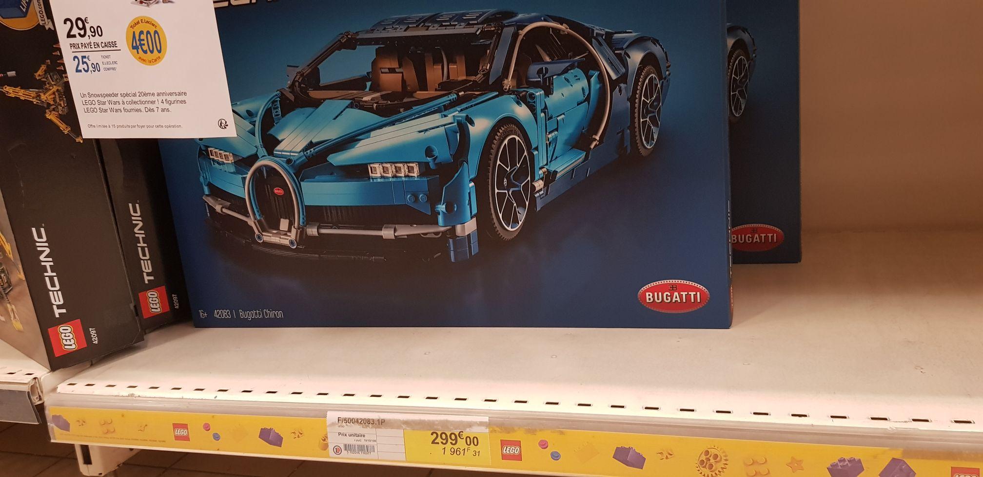 50% de réduction en bon d'achat sur tous les jouets - Ex : Lego Bugatti chiron (+149,99€ en tickets e-Leclerc) - Jarny (54)