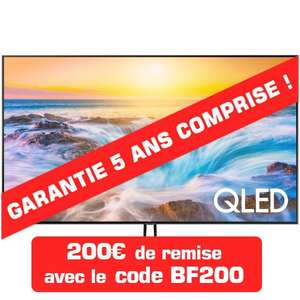 "TV QLED 65"" Samsung QE65Q90R - 4K UHD, Full LED, Local Dimming, Smart TV + Support Mural + Câbles HDMI + Garantie 5 ans"