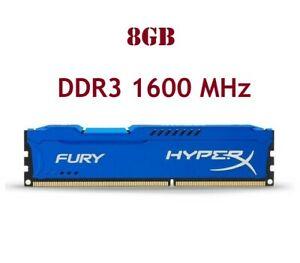 Barrette Mémoire DDR3 HyperX Fury Blue 8 Go (1 x 8 Go) - 1600 MHz, CL11