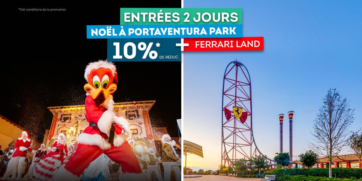10% de réduction sur les entrées au parc Portaventura Park + Ferrari Land de 2 Jours