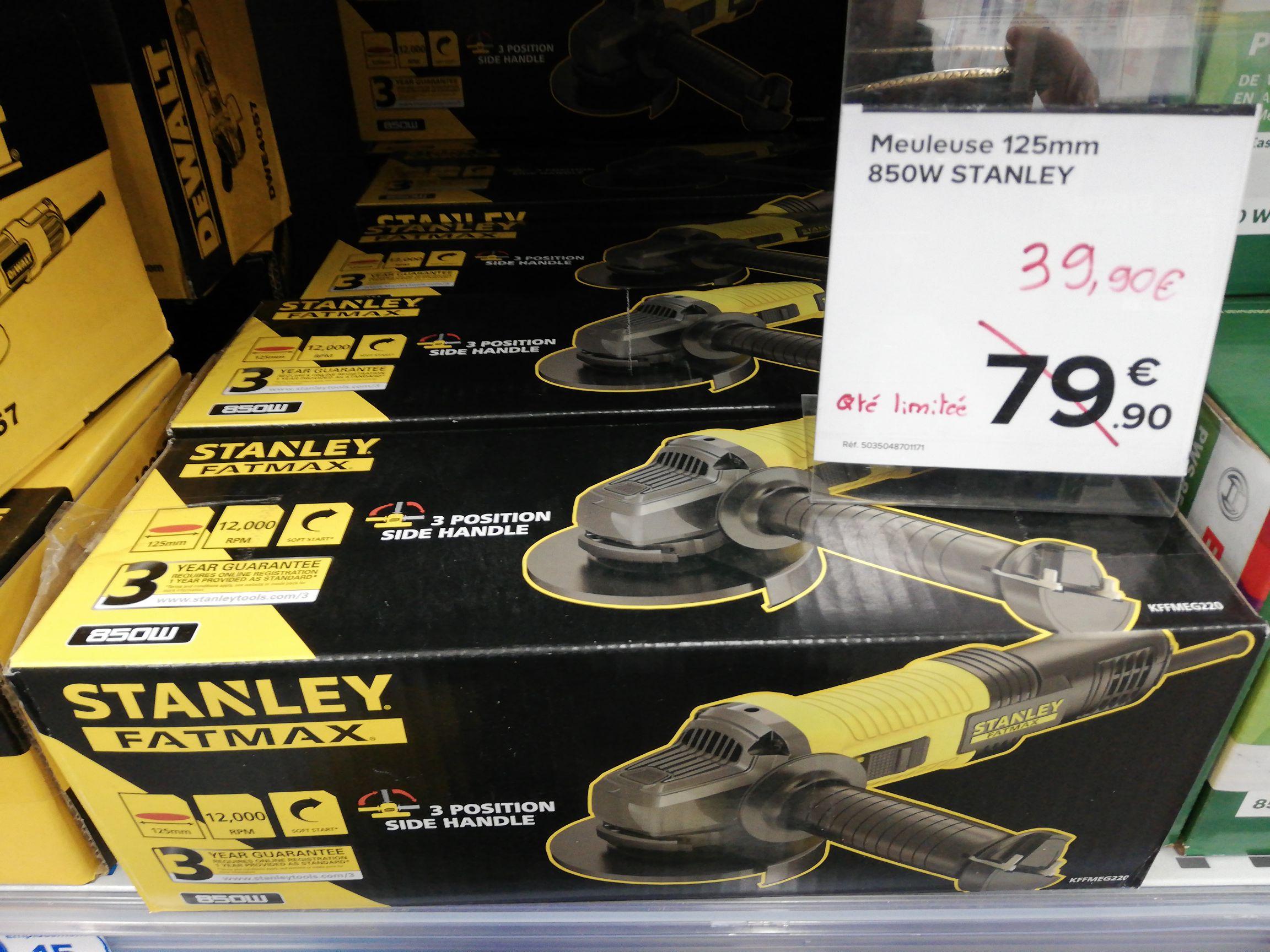 Meuleuse Stanley Fatmax KFFMEG220-QS 125 mm - Perpignan (66)