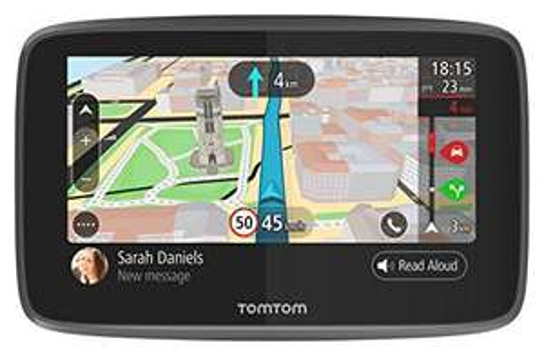 "GPS 5"" TomTom GO 5200 - Cartographie Monde, Trafic (via carte sim incluse), Zones de Danger à Vie et Appel Mains-Libres"