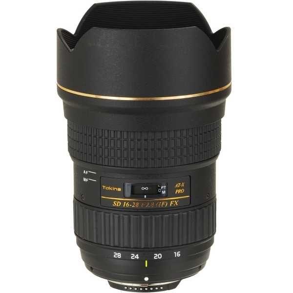 Objectif zoom Tokina 16-28 MM F/2,8 AT-X PRO FX - Monture Canon ou Nikon, plein format