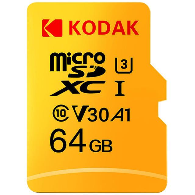 Carte micro SDXC Kodak 64 Go - U3, A1, V30, Classe 10 (ou 128 Go à 14.33€)