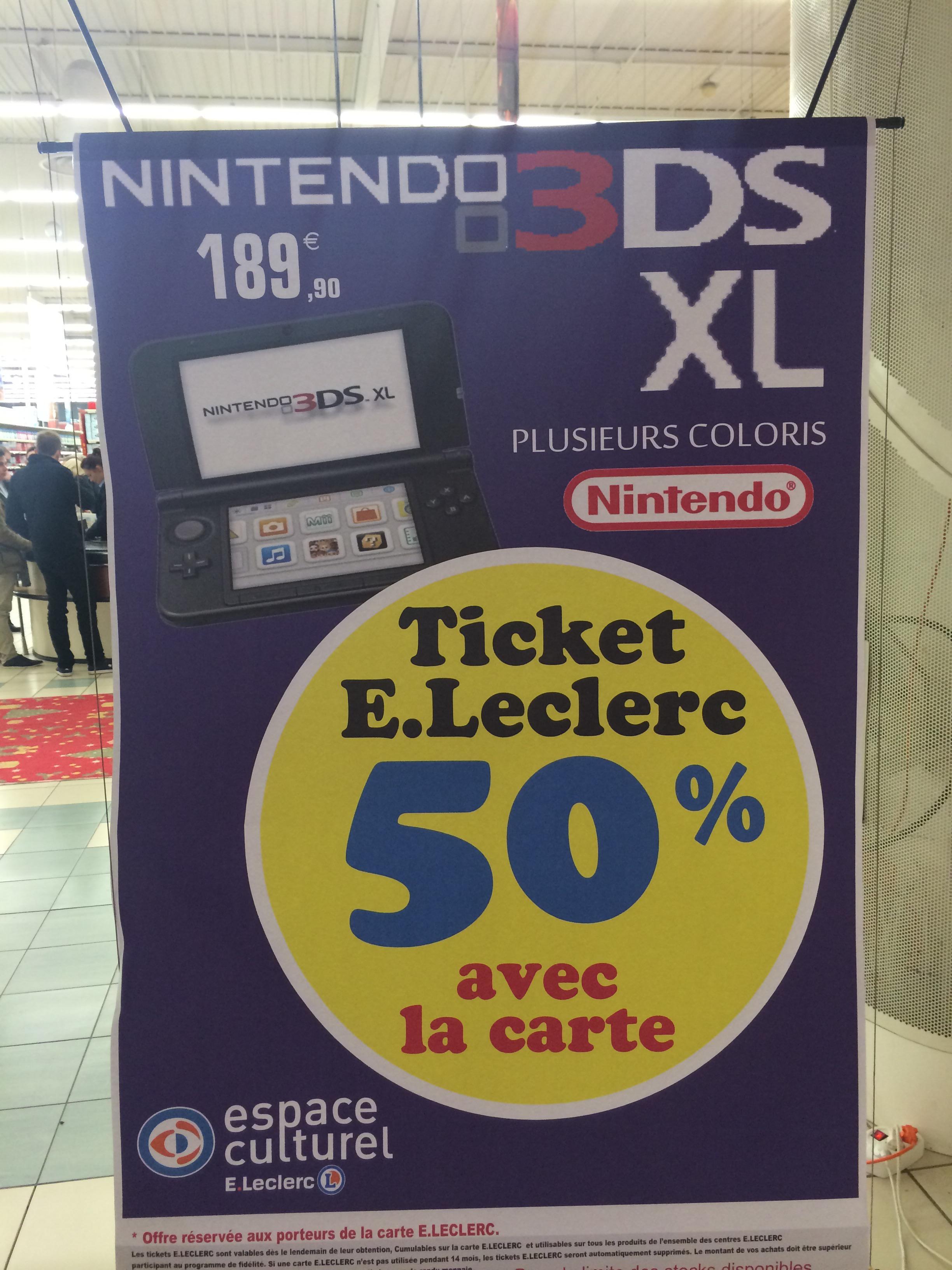 Console Nintendo 3DS XL (avec 50% sur la carte)