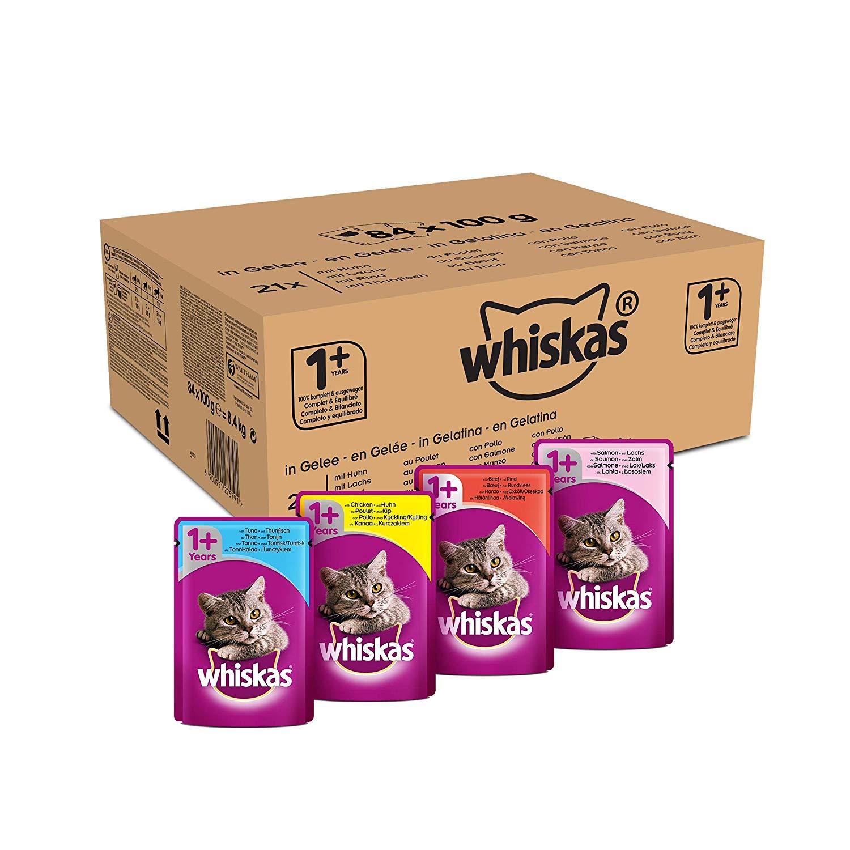 Pack de 84 sachets fraîcheur Whiskas pour Chat adulte - 84 x 100 g