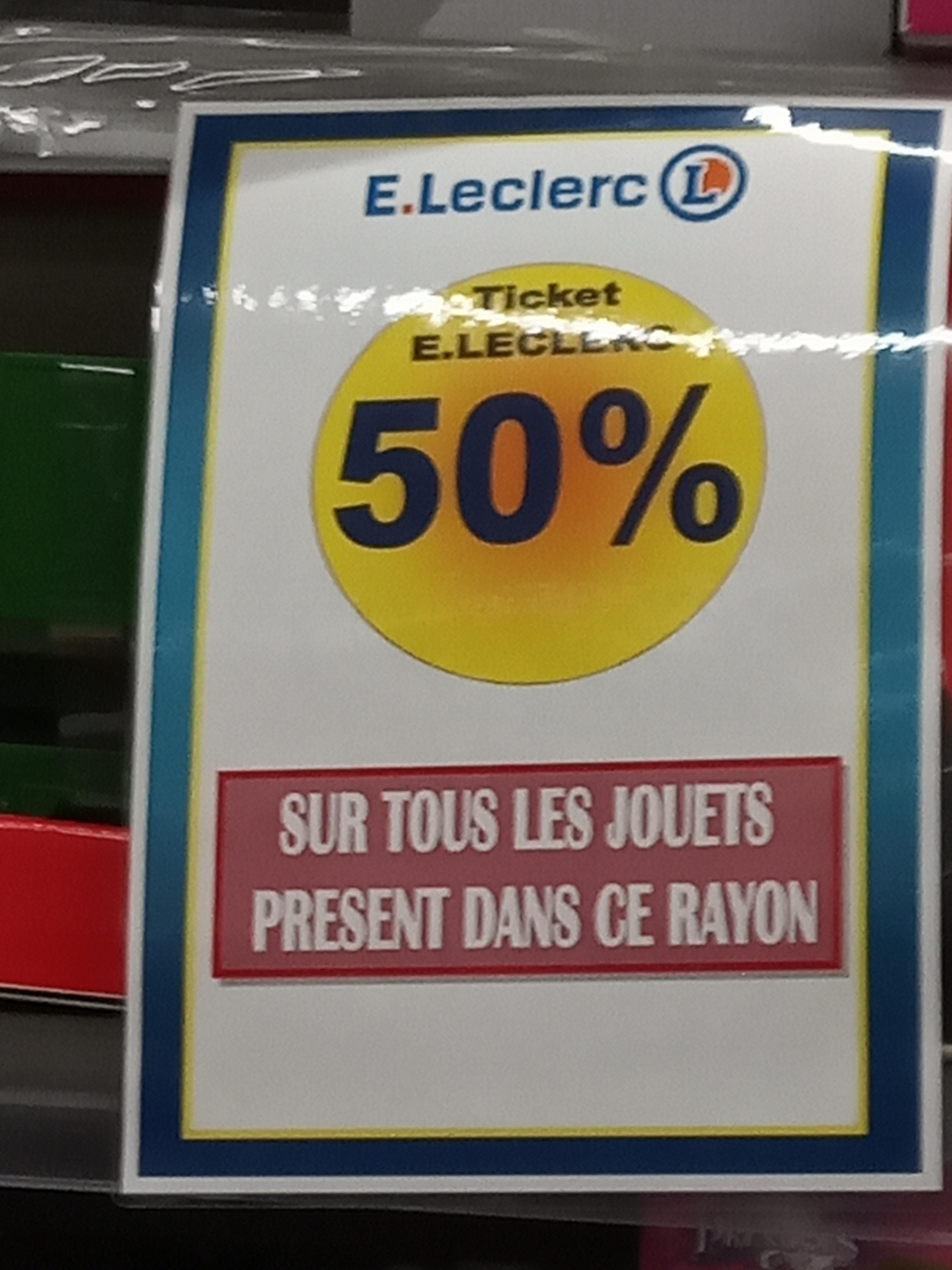 50% remboursés sur la carte sur une sélection de Jouets - Grézieu-la-Varenne (69)