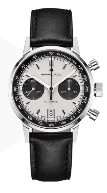 Montre Hamilton American Classic Intra-Matic - Bracelet cuir, 40 mm (lepage.fr)