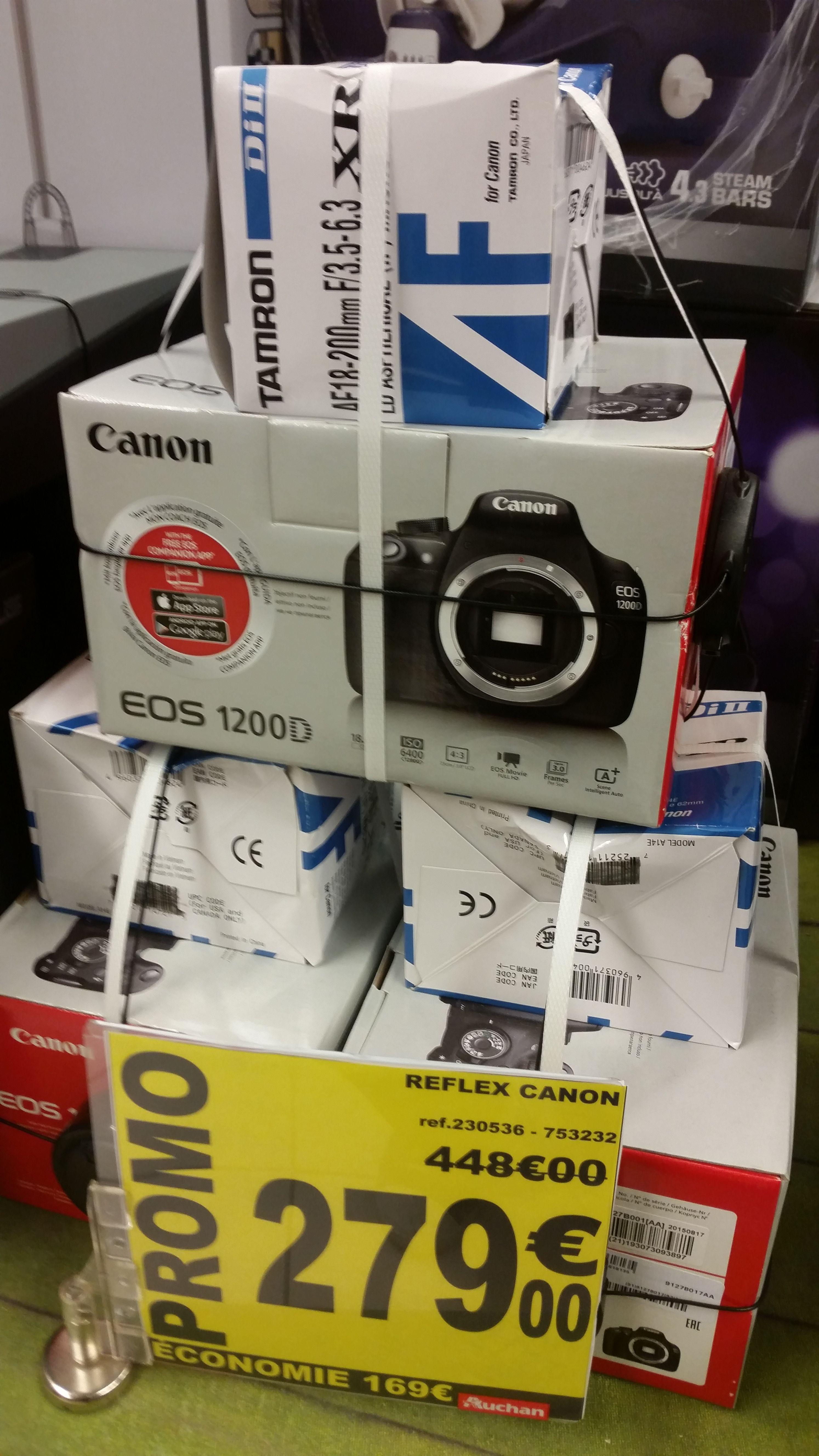 Appareil Photo Reflex Canon EOS 1200D + Objectif Tamron 18/200