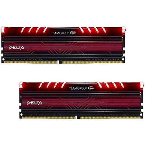 Kit mémoire RAM Team Group Delta Red - 16 Go (2x8Go), DDR4, 2400 MHz CL15