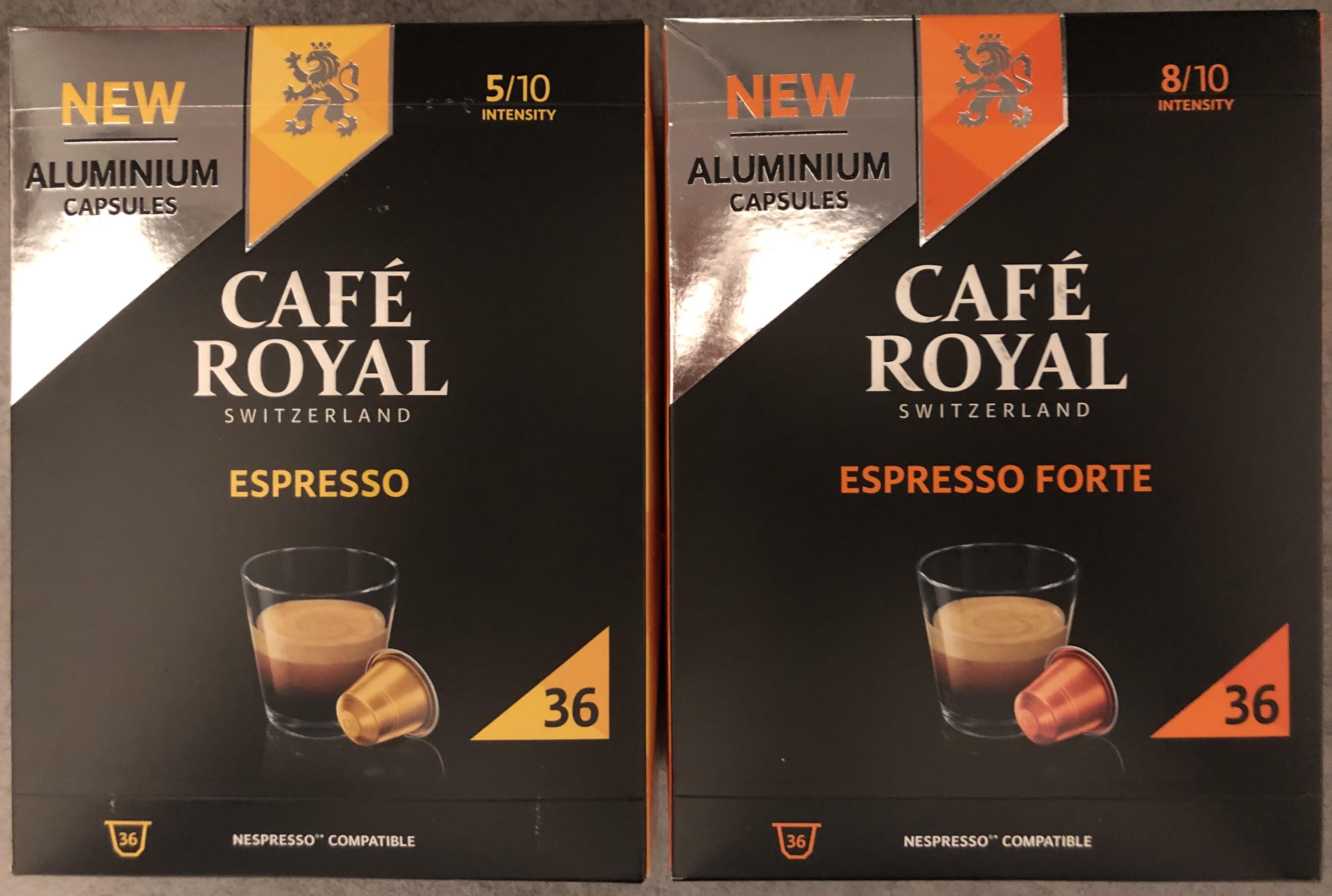 Paquet de 36 dosettes à Café Royal Nespresso Aluminium - Monoprix La garenne (92)