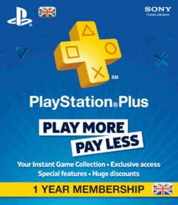 Abonnement d'un an au PlayStation Plus (Lire avertissement en description)