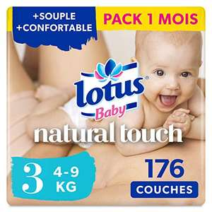 Sélection de couches en promotion - Ex : Paquet de 176 couches Lotus natural touch