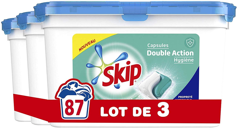Lot de 3 paquets de 29 Capsules Skip - Double Action, Duo Hygiène - 87 Lavages