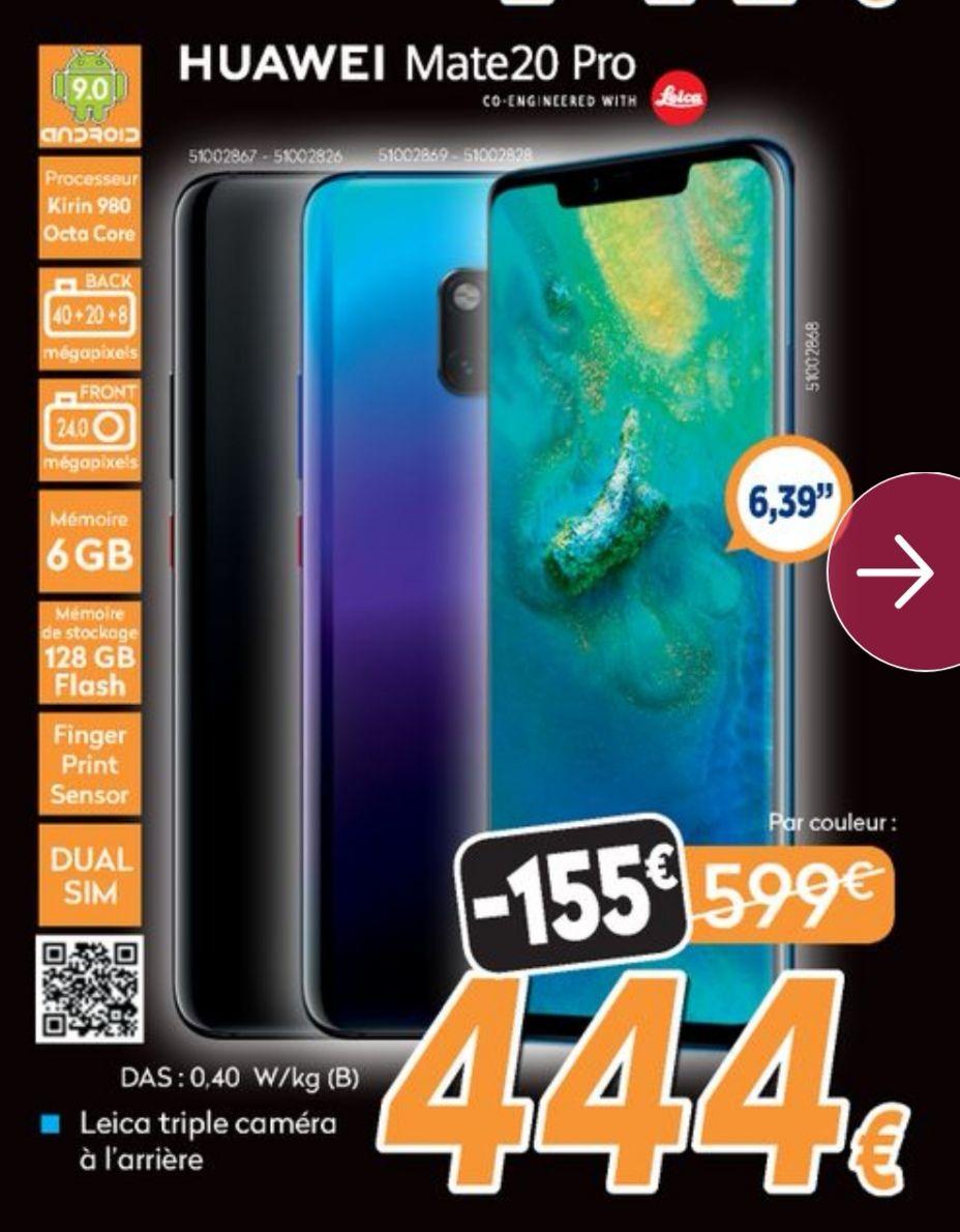 Smartphone Huawei Mate 20 Pro - 6 Go de Ram, 128 Go (Frontaliers Belgique)