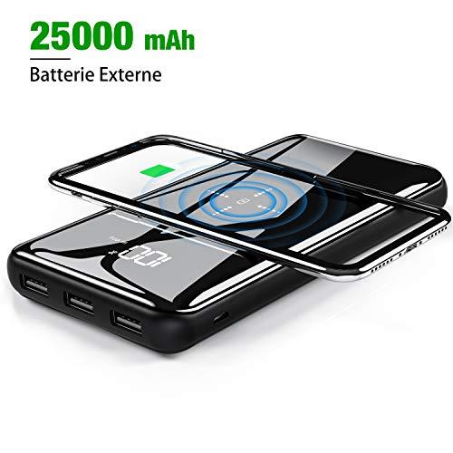 Batterie externe sans fil - 25000mAh (Vendeur tiers)