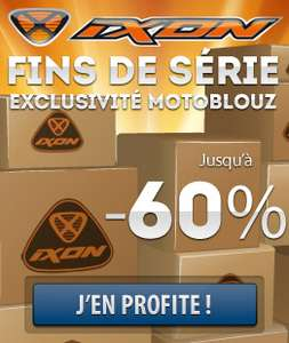 Jusqu'à -60% sur une sélection de produits  (Casque Airoh Force XR Uni à 115€, Gants Ixon RS Tina à 18€...)