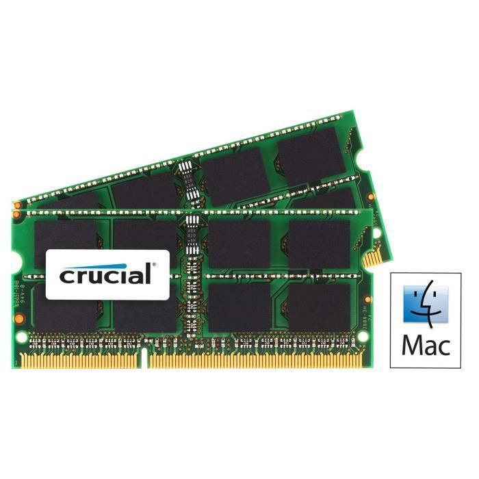 Kit Mémoire Crucial 16 Go (2 x 8 Go) DDR3L 1600MHz pour Mac