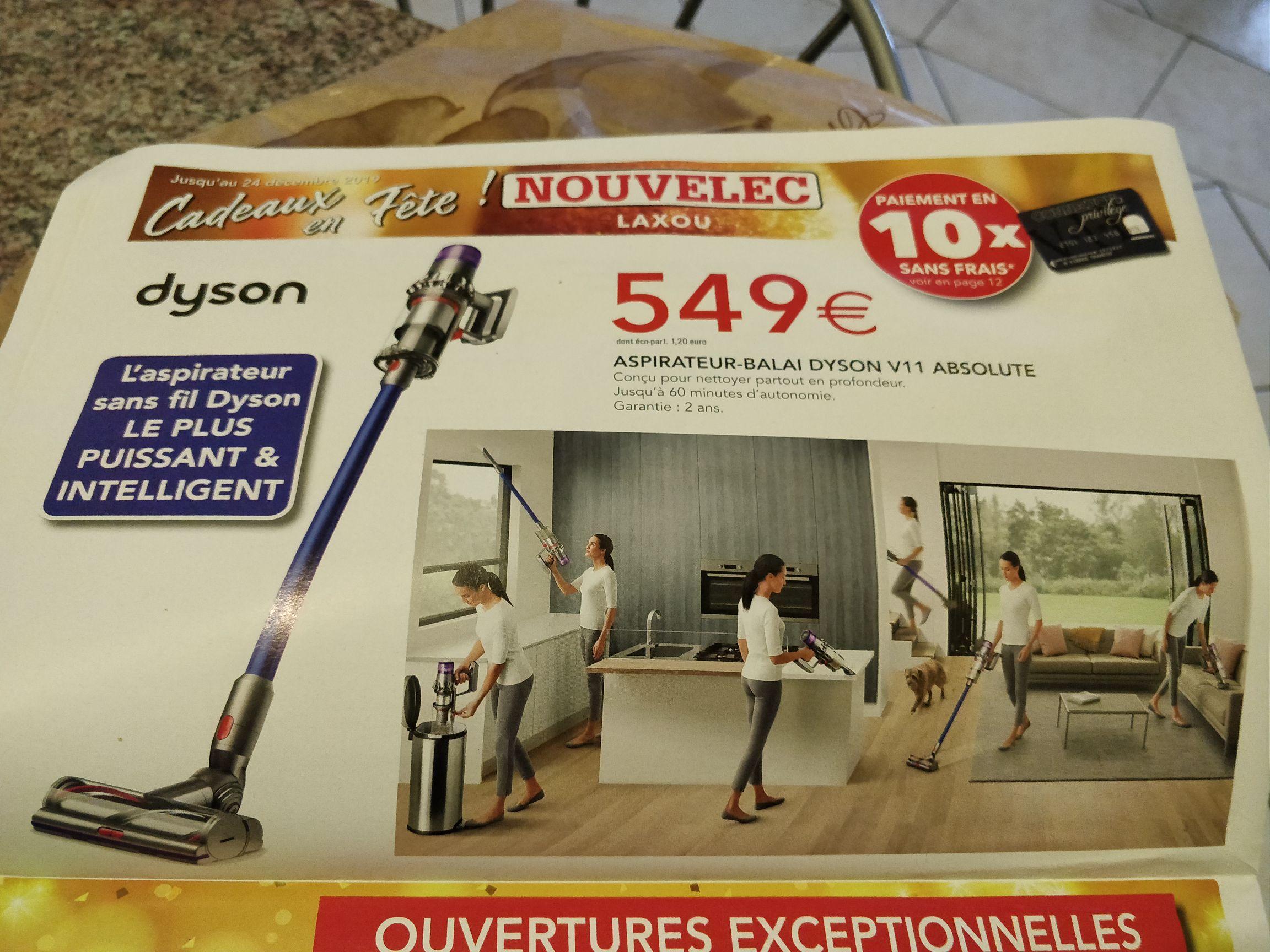 Aspirateur balai Dyson V11 Absolute - Novelec Laxou (54)